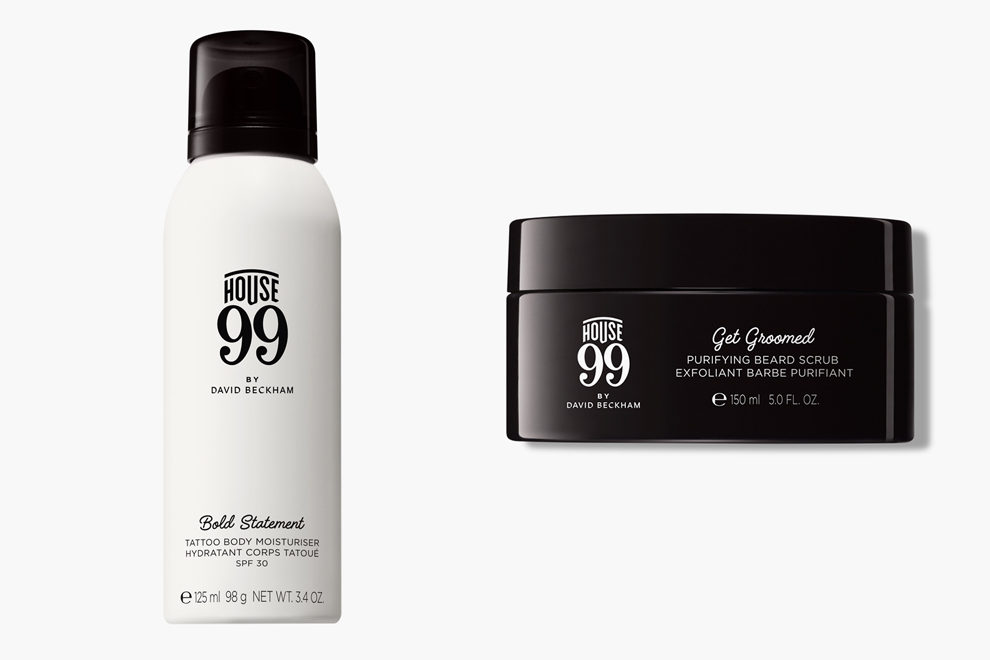 House 99, Tattoo Body Moisturizer SPF 30; House 99, Purifying Body Scrub