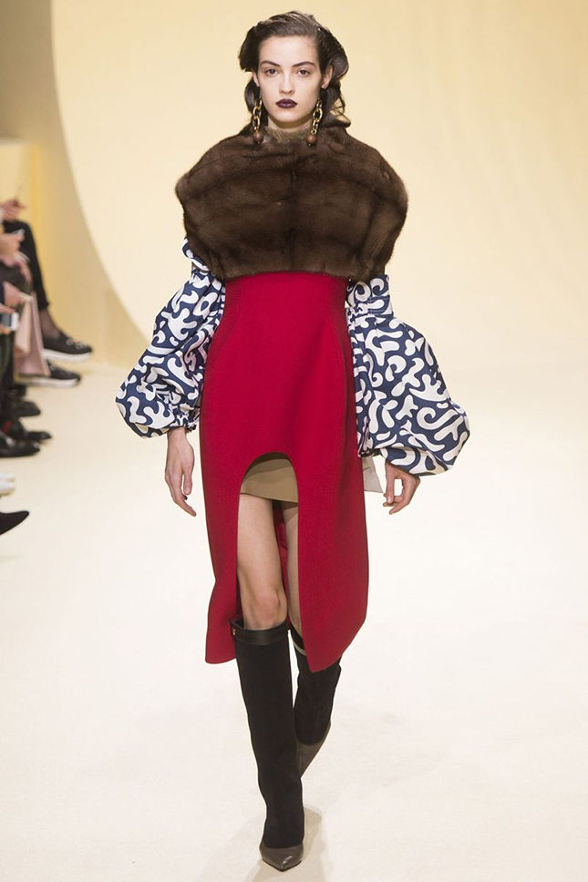 A look from Marni's current A/W 2016 collection