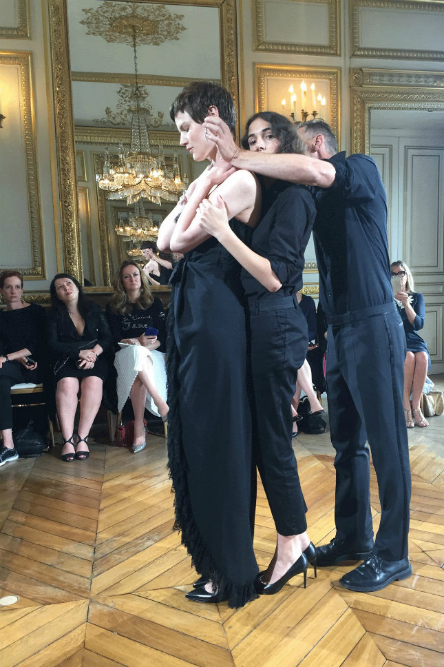 A ringside view of the presentation in Paris