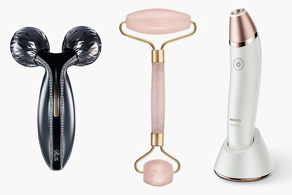 ReFa Crystal — $360, Julia Hart, Rose Quartz Roller — £63, Philips VisaCare — 19990 рублей