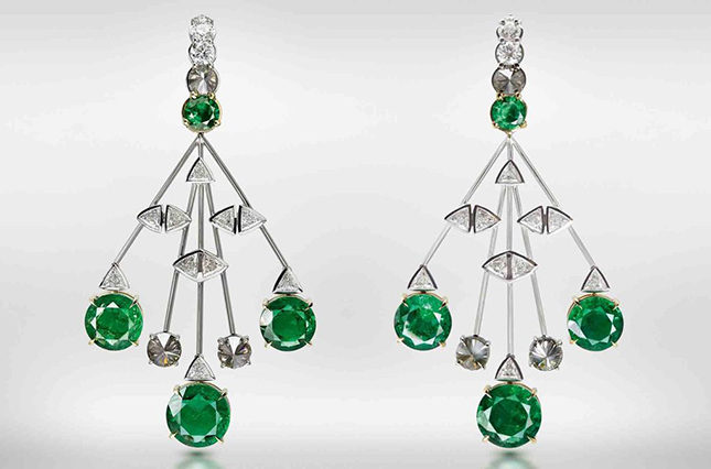 The emerald and diamond multi-drop