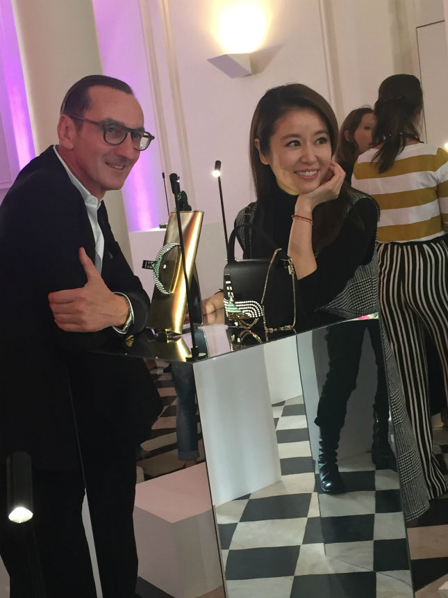Bruno Frisoni, Creative Director of Roger Vivier, with Taiwan's TV star Ruby Lin