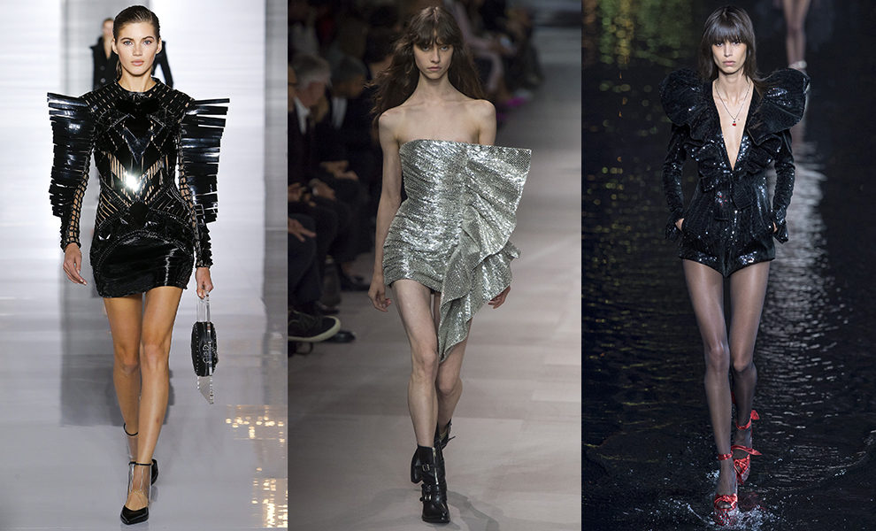 Balmain, Celine, Saint Laurent весна-лето 2019