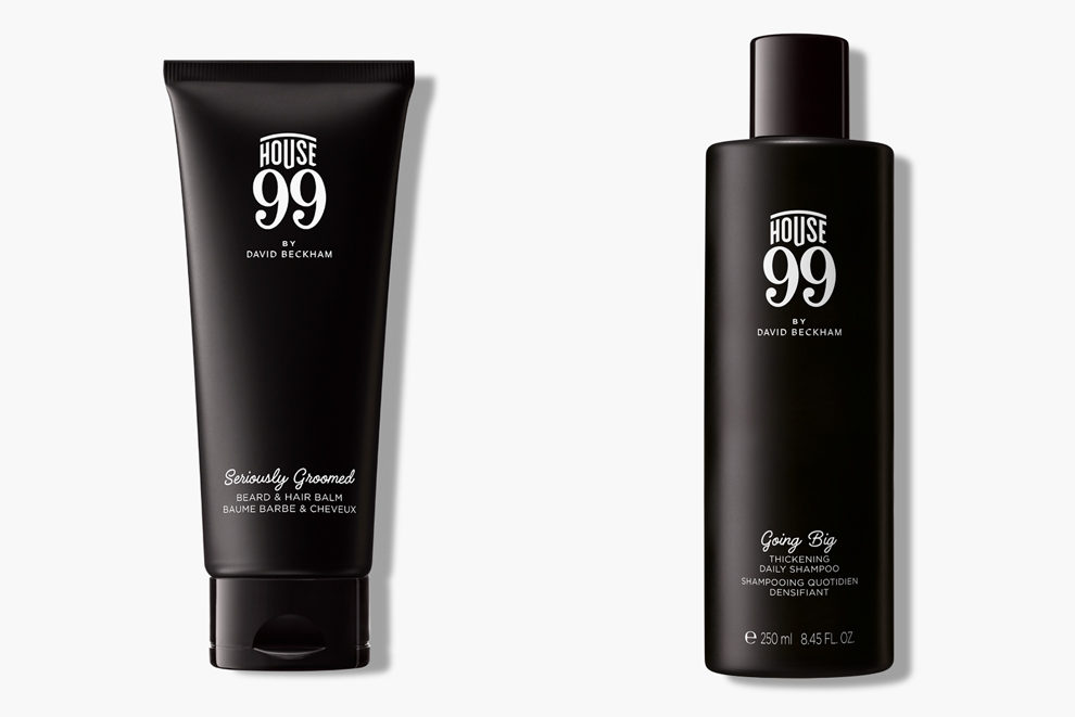 House 99, Beard & Hair Balm; House 99, Thickening Daily Shampoo