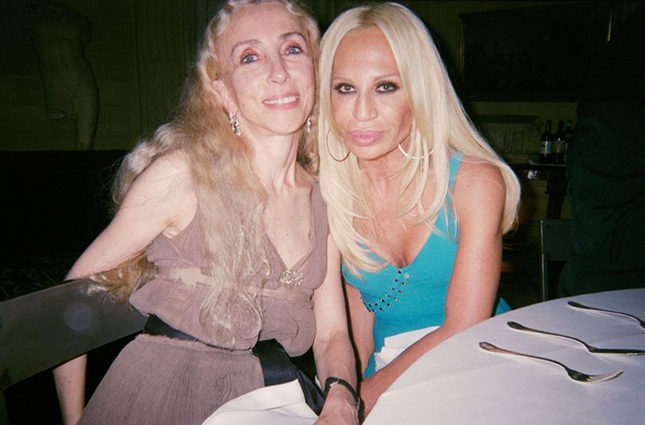 Franca with Donatella Versace