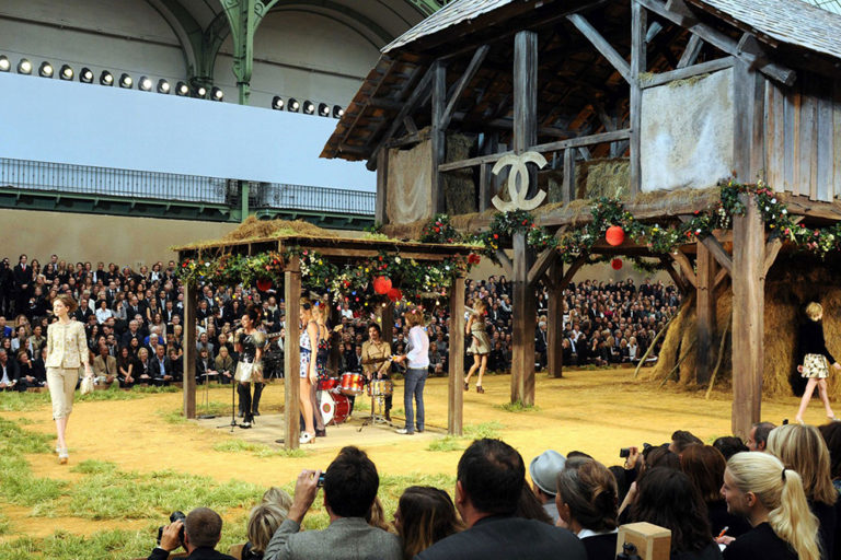 14 Chanel ready-to-wear, spring:summer 2010 Lily Allen performed at the barn-themed show.  .jpg