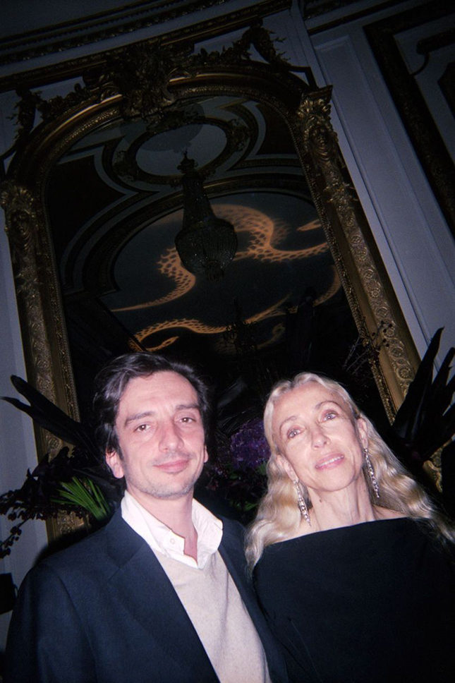 Franca Sozzani with Luca Stoppini, Vogue Italia's Art Director